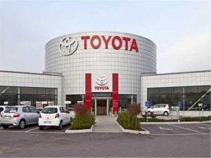 شركة تويوتا للسيارات اليابانية